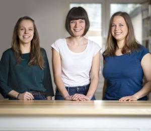 gramm.genau Team v.l.n.r. Franziska Geese, Jenny Fuhrmann, Christine Müller