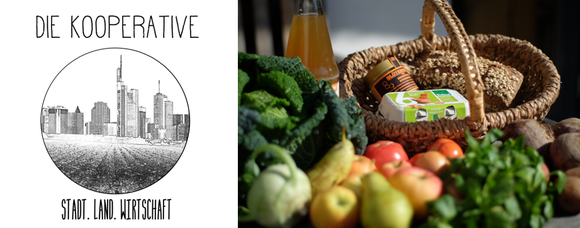 Die Kooperative Logo und Gemüsekorb
