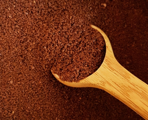 unverpacktes kaffeepulver